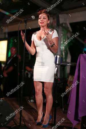 Marcela Valladolid speaks onstage at A Taste of the World presented by Breeders' Cup and Grey Goose Vodka on Day 1 of Breeders' Cup World Championships held at Huntington Garden, in San Marino, Calif