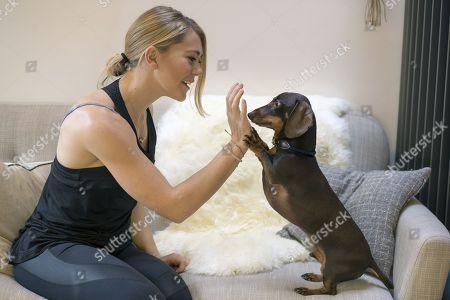 Cyclist Jess Varnish - Cyclist Jess Varnish Interview With Martha Kelner Pictured With Her Dog Hugo - Nov 4th 2016 - Manchester UK.
