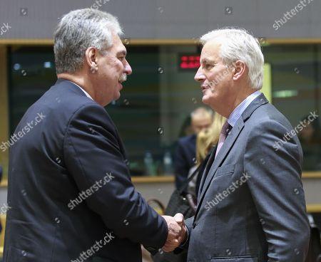 Hans Joerg Schelling and Michel Barnier