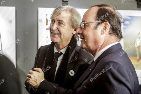 Jean Plantu and Francois Hollande