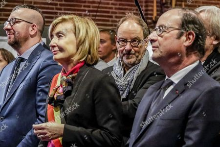 Charles Michel, Francoise Schepmans, Pierre Kroll and Francois Hollande