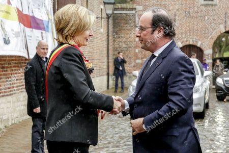 Francoise Schepmans and Francois Hollande