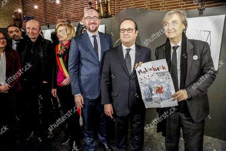 Editorial picture of Press Cartoonists exhibition, Molenbeek, Bruseels, Belgium - 20 Nov 2017