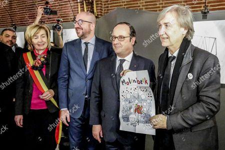 Editorial image of Press Cartoonists exhibition, Molenbeek, Bruseels, Belgium - 20 Nov 2017