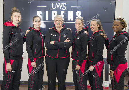 Editorial picture of Scottish netball team Sirens media day announcing new team and coach, University of West Scotland, Paisley, Glasgow, Scotland, UK - 20 Nov 2017