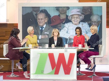 Coleen Nolan, Denise Van Outen, Ingrid Seward, Saira Khan and Jane Moore