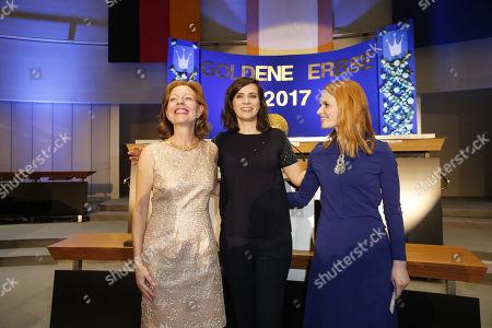 Silke Fischer, Nora Tschirner (Preistraegerin), Karoline Herfurth