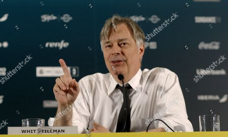 Stock Picture of US writer and filmmaker Whit Stillman talks during a press conference at the Gijon International Film Festival in Gijon, Asturias, northern Spain, 20 November 2017.