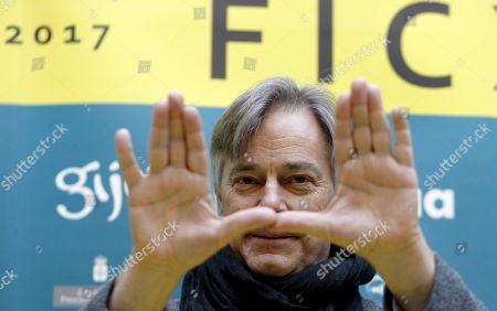 US writer and filmmaker Whit Stillman poses during a press conference at the Gijon International Film Festival in Gijon, Asturias, northern Spain, 20 November 2017.