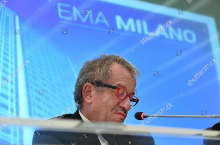 Roberto Maroni, President of nothern Italy's Lombardy region, gives a press conference on the occasion of the draw for the host city for European Medicines Agency (EMA), in Milan, Italy, 20 November 2017. The EU decided to relocate the European Medicines Agency (EMA) to Amsterdam, not Milan by drawing the name from a hat in Brussels after Milan and Amsterdam were awarded the same amount of votes. The EMA needs to be relocated from London as the United Kingdom chose to trigger Article 50 and leave the EU, dubbed Brexit'.
