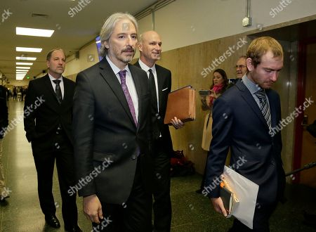 Stock Picture of Matt Gonzalez, second from left, chief attorney of the San Francisco Public Defenders Office, walks to a courtroom, in San Francisco. Attorneys are set to begin their final arguments Monday in the trial of Jose Ines Garcia Zarate accused of killing a woman on a San Francisco pier in a case that touched off a national immigration debate