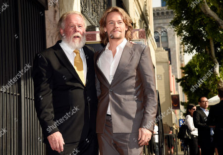 Nick Nolte, Brawley Nolte. Actor Nick Nolte, left, poses with his son Brawley following a ceremony to award him a star on the Hollywood Walk of Fame, in Los Angeles