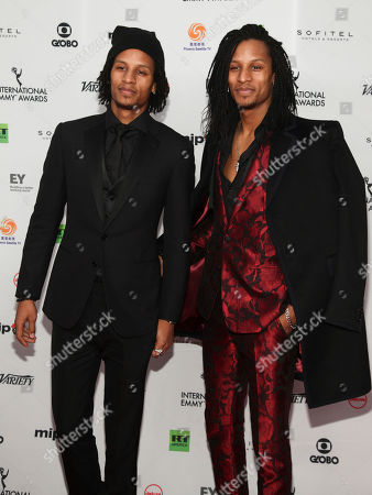 Les Twins attend the 45th International Emmy Awards