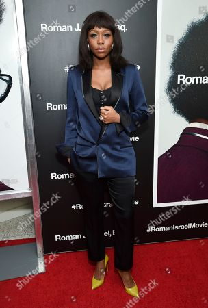 """Actress Amanda Warren attends a special screening of """"Roman J. Israel, Esq."""" at the Henry R. Luce Auditorium, in New York"""