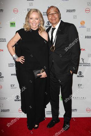 Stock Photo of Rebecca Gibney and Tony Ayres