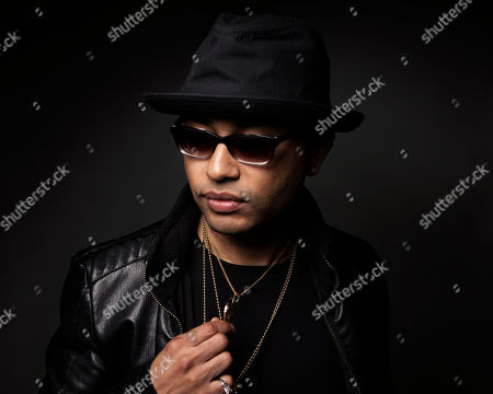 Stock Photo of Puerto Rican singer-songwriter Toby Love poses for a portrait, in New York