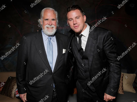 Stock Picture of Vice Chairman of Sony Pictures Entertainment Jeff Blake and Channing Tatum attend the after party for the premiere of Columbia Pictures' '22 Jump Street' at the W Hotel on in Los Angeles