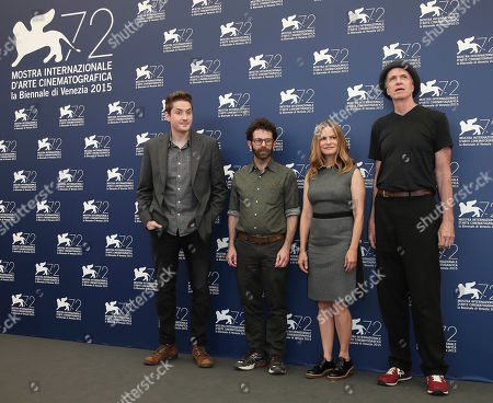 Stock Image of From left, directors Duke Johnson and Charlie Kaufman, actors Jennifer Jason Leigh and Tom Noonan pose during the photo call for the film Anomalisa at the 72nd edition of the Venice Film Festival in Venice, Italy, . The 72nd edition of the festival runs until Sept. 12