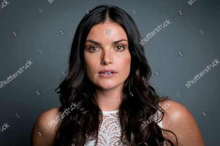 """Former """"The Bachelor"""" winner Courtney Robertson posing for a portrait in New York to promote her book """"I Didn't Come Here to Make Friends: Confessions of a Reality Show Villain"""