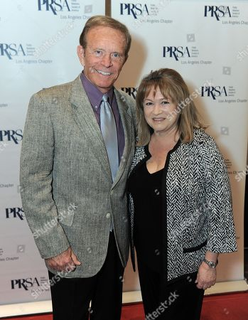 Bob Eubanks and Rita Tateel, President The Celebrity Source and PRSA-LA Assembly Delegate attends the 48th Annual PRism Awards on in Los Angeles