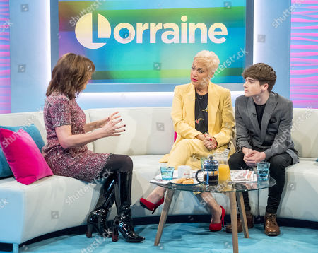 Lorraine Kelly, Denise Welch and Louis Healy