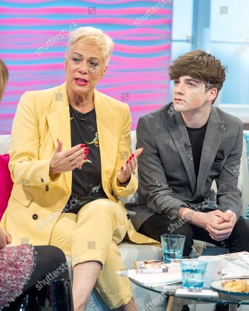 Denise Welch and Louis Healy