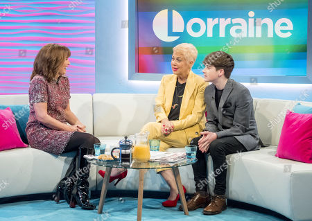 Stock Image of Lorraine Kelly, Denise Welch and Louis Healy