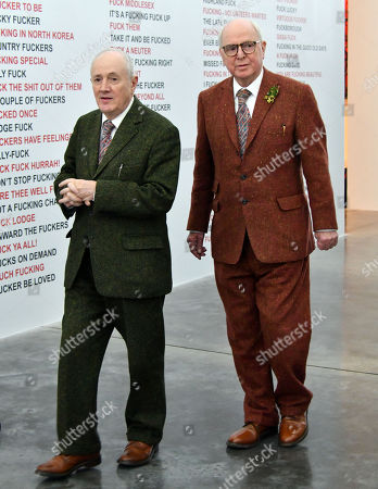 Editorial picture of 'Gilbert & George' exhibition photocall, London, UK  - 21 Nov 2017