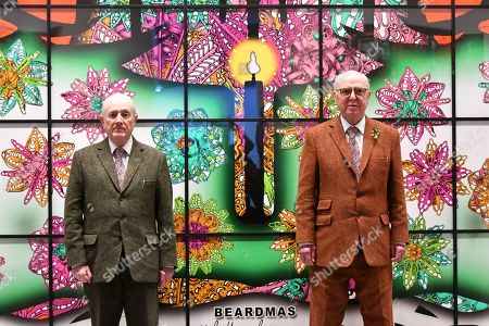 Editorial image of 'Gilbert & George' exhibition photocall, London, UK  - 21 Nov 2017