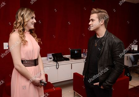 "Editorial image of Whirlpool Brand and Award-Winning Artist Hunter Hayes Reveal ""Care is Musical"" Contest Winner's Performance in National Ad, Century City, USA - 5 Feb 2015"