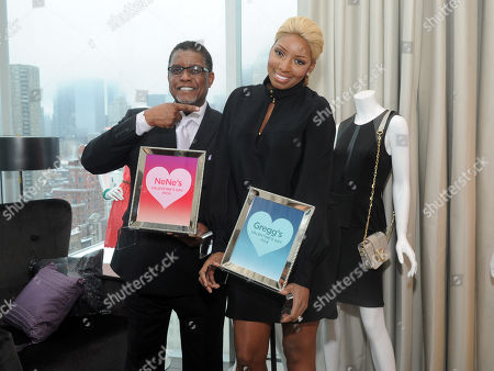 Reality TV star couple NeNe and Gregg Leakes get real personal and show off their gift picks for Valentine's Day at the Shop Your Way Personal Shopper launch with Sears and Kmart in New York