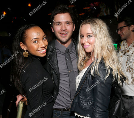 Logan Browning, Stephen Lunsford and Skyler Shaye attend a surprise birthday party for MTV Teen Wolf's Stephen Lunsford presented by Monster Energy Drinks on in Los Angeles, CA