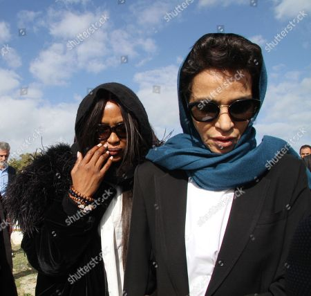 Afef Jnifen (R) and Naomi Campbell