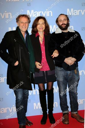 Stock Image of Charles Berling, Anne Fontaine and Vincent Macaigne