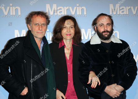 Charles Berling, Anne Fontaine and Vincent Macaigne