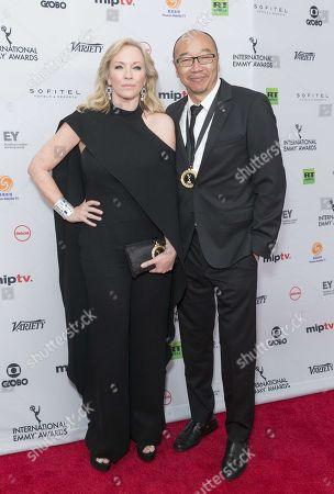 Rebecca Gibney and Tony Ayres
