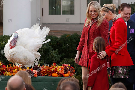 Drumstick, Ivanka Trump, Tiffany Trump, Arabella Kushner. Tiffany Trump, Ivanka Trump, right, and her daughter Arabella Kushne look at Drumstick after President Donald Trump pardoned the turkey in an annual presidential tradition, in the Rose Garden of the White House in Washington