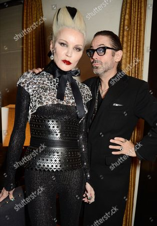 Daphne Guinness (L) and guest