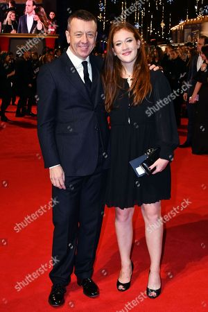 Peter Morgan with his daughter