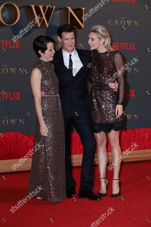 Stock Photo of Claire Foy, Matt Smith and Vanessa Kirby