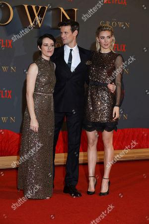 Stock Image of Claire Foy, Matt Smith and Vanessa Kirby