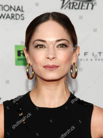 Kristin Kreuk attends the 45th International Emmy Awards at the New York Hilton, in New York