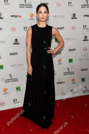 Stock Picture of Kristin Kreuk attends the 45th International Emmy Awards at the New York Hilton, in New York