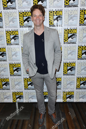 """Co-executive producer Kevin Shinick attends the """"Robot Chicken"""" press line on day 2 of Comic-Con International, in San Diego, Calif"""