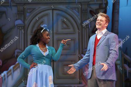 Aisha Jawando as Cinderella and Chris Jenkins as Prince Charming