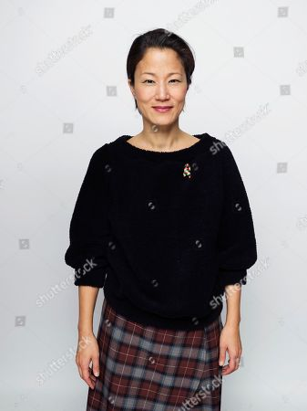 """Stock Image of Writer/actor Jacqueline Kim poses for a portrait to promote the film, """"Advantageous"""", at the Eddie Bauer Adventure House during the Sundance Film Festival, in Park City, Utah"""