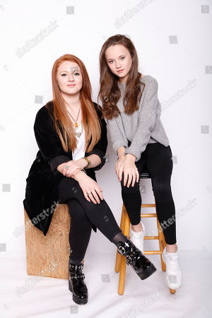 """Actresses Elizabeth Morris, left, and Isabelle Allen pose for a portrait to promote the film, """"Let's Be Evil"""", at the Toyota Mirai Music Lodge during the Sundance Film Festival on in Park City, Utah"""