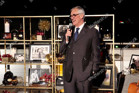 Global Brand Ambassador and 8th generation family member Maurice Hennessy discusses the original Extra Old Cognac during a private Hennessy X.O dinner on at Neuehouse Hollywood in Los Angeles