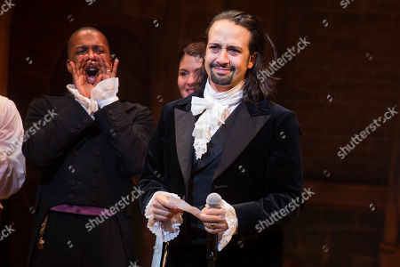 """Lin-Manuel Miranda appears at the curtain call following the opening night performance of """"Hamilton"""" at the Richard Rodgers Theatre in New York. """"Hamilton's America,"""" a documentary about the musical's creation, will air this fall on the """"Great Performances"""" showcase, Paula Kerger, president and CEO of PBS, said . The documentary is expected to include the musical's creative origins, some footage of the musical and interviews with Miranda and others, PBS said"""