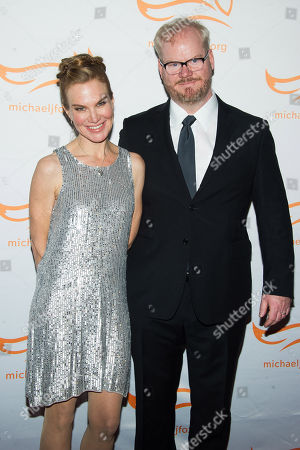 "Jeannie Noth, left, and Jim Gaffigan attend The Michael J. Fox Foundation for Parkinson's Research benefit, ""A Funny Thing Happened on the Way to Cure Parkinson's,"" in New York. Gaffigan stars in the new comedy series, ""The Jim Gaffigan Show,"" premiering Wednesday, July 15, at 10 p.m. EDT on TV Land"